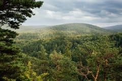 Bella vista in montagne polacche Immagine Stock