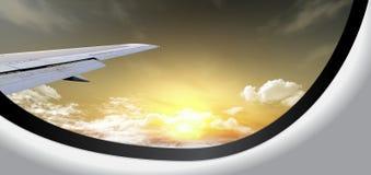 Bella vista nell'aereo Fotografie Stock Libere da Diritti