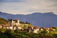 Bella vista panoramica della polizia del sul di Torbole, Italia del Nord Fotografia Stock