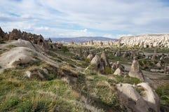 Bella vista panoramica della valle vicino a Goreme immagine stock