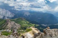 Bella vista panoramica delle alpi italiane delle dolomia Il Tirolo del sud Immagine Stock Libera da Diritti