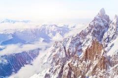 Bella vista panoramica delle alpi, paesaggio Fotografie Stock Libere da Diritti