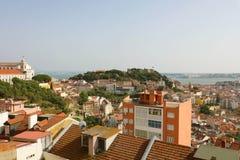 Bella vista panoramica di Lisbona, Portogallo immagini stock