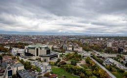 Bella Vista Panoramica Sopra Paesaggio Urbano Di Sofia Bulgaria