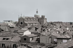 Bella vista panoramica su Venezia dalla cima Immagini Stock Libere da Diritti