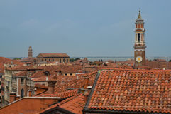 Bella vista panoramica su Venezia dalla cima Fotografia Stock Libera da Diritti