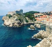 Bella vista Ragusa di estate La Croazia fotografie stock libere da diritti