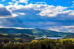 Bella vista stessa del paesaggio ceco immagini stock libere da diritti
