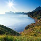 Bella vista sul mare Fotografia Stock