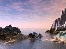 Bella vista sul mare Fotografie Stock Libere da Diritti