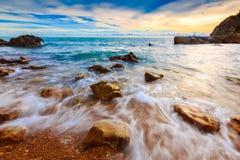 Bella vista sul mare Immagini Stock