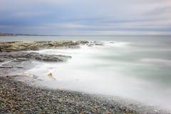 Bella vista sul mare di alba di mattina Fotografie Stock Libere da Diritti