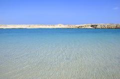Bella vista sul mare e deserto immagini stock