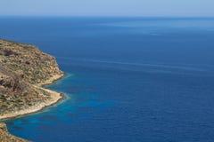 Bella vista sul mare in Grecia Fotografie Stock