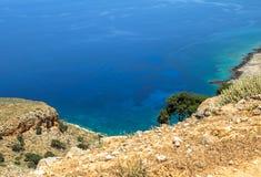 Bella vista sul mare in Grecia Immagine Stock