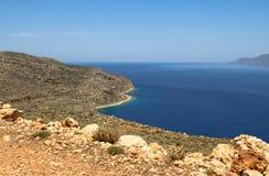 Bella vista sul mare in Grecia Immagini Stock Libere da Diritti