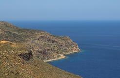 Bella vista sul mare in Grecia Immagini Stock