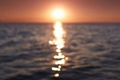 Bella vista sul mare Paesaggi della natura meravigliosa Composizione del tramonto sopra il mare Vista del mare dalla spiaggia tro immagini stock libere da diritti