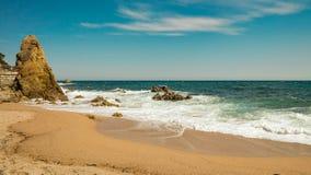 Bella vista sul mare in spagna Fotografia Stock