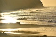 Bella vista sul mare sulla costa di Santa Barbara Immagine Stock