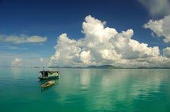 Bella vista sul mare tropicale Fotografia Stock