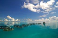 Bella vista sul mare tropicale Immagini Stock