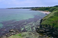 Bella vista sul mare vicino a Ahtopol immagine stock libera da diritti