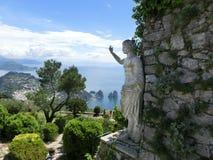 Bella vista sull'isola di Capri, Italia Fotografia Stock