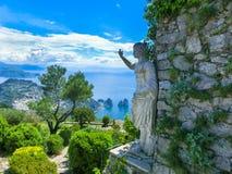 Bella vista sull'isola di Capri, Italia Fotografie Stock Libere da Diritti