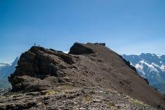 Bella vista sulla cima della montagna Fotografie Stock Libere da Diritti