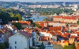 Bella vista sulla vecchia città di Praga, repubblica Ceca Fotografie Stock Libere da Diritti