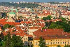 Bella vista sulla vecchia città di Praga, repubblica Ceca Immagine Stock