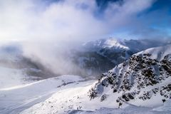 Bella vista sulle alpi dalla cima Fotografie Stock Libere da Diritti