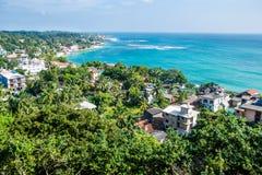 Bella vista superiore Unawatuna Sri Lanka Immagine Stock