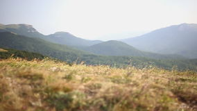 Bella Windy Mountains stock footage