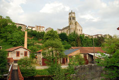 Bellac church in Haute Vienne Royalty Free Stock Images