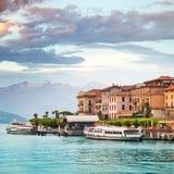 Bellagio, озеро Como Стоковая Фотография