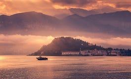 Bellagio al tramonto Fotografia Stock