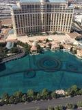 Bellagio-Brunnen-Ansicht von UND Spitze Stockbilder