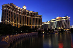 Bellagio and Caesar's Palace Royalty Free Stock Photo