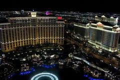 Bellagio and Caesars Palace, Las Vegas, NV stock photo
