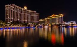 Bellagio & Caesers-Paleis in Las Vegas stock foto's