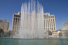 The Bellagio Casino and Hotel in Las Vegas, Nevada. The lake infront of the hotel has more than 1,000 fountains dance in front of the hotel every half hour Stock Image