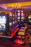 Bellagio casino room with slot machines stock photography