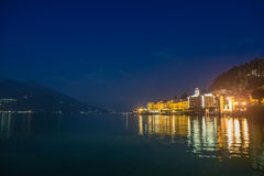 The Bellagio city by night. The Bellagio city at night Stock Photo