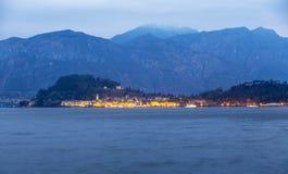 Bellagio Como morze Zdjęcia Stock