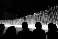 Bellagio dancing fountain las vegas Royalty Free Stock Photo