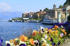 Bellagio e lago di como Fotografie Stock