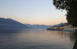 Bellagio ed il lago Immagine Stock