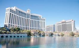 Bellagio et Caesars Palace, hôtels et casinos, Las Vegas, nanovolt Photographie stock libre de droits